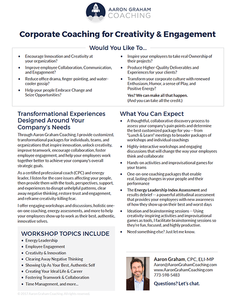 Corporate Coaching Offerings Downloadable PDF